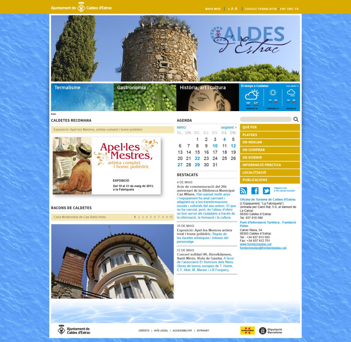 Ajuntament de Caldes d'Estrac . Turisme